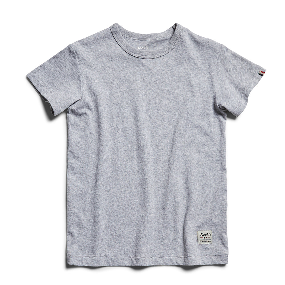 Rookie Basic Crew Tee - Grey Marle