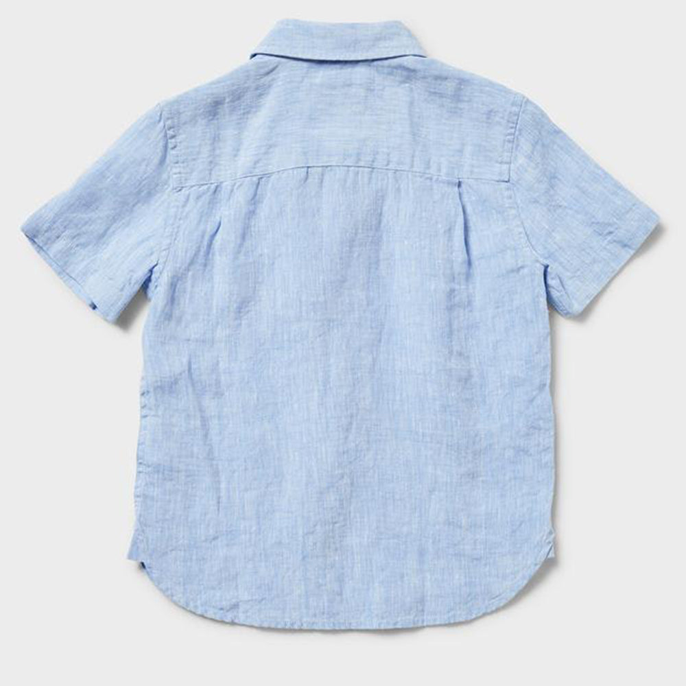 Newport Shortsleeve Linen Shirt - Chambray