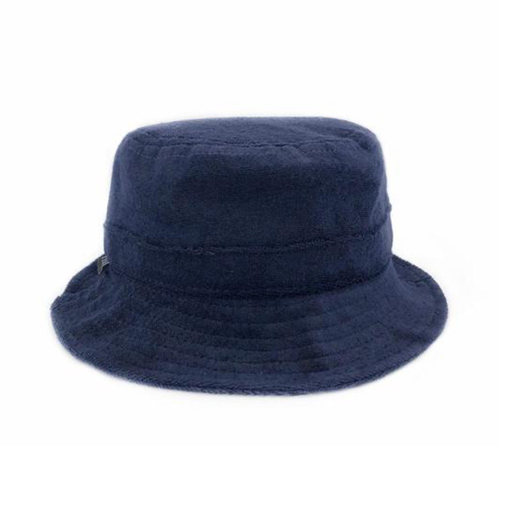 ccc515cab fini. Terry Towel Bucket Hat in Navy