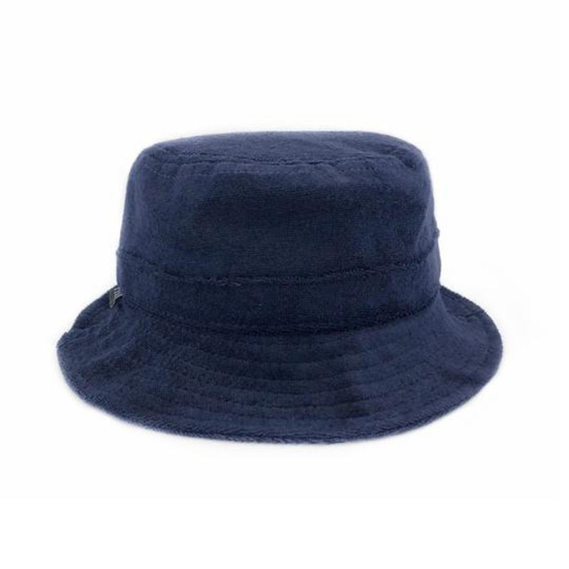 0e8377e83aaba9 fini. Terry Towel Bucket Hat in Navy – hunter & bear Pty Ltd