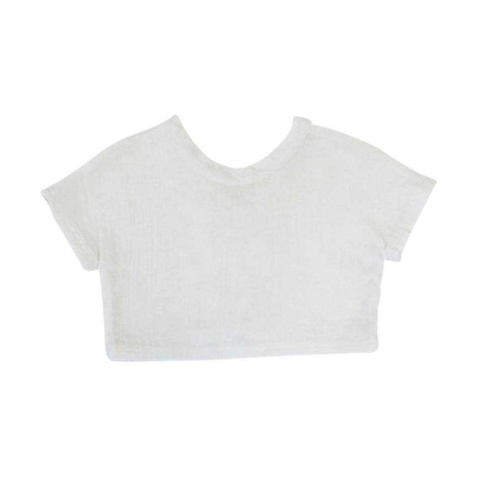 V-Back Box Tee - Milk
