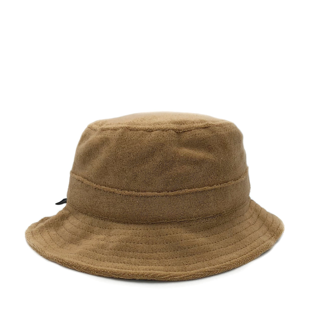 fini. Terry Towel Bucket Hat in Tan