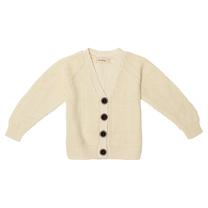 Cream Slouch Cardigan