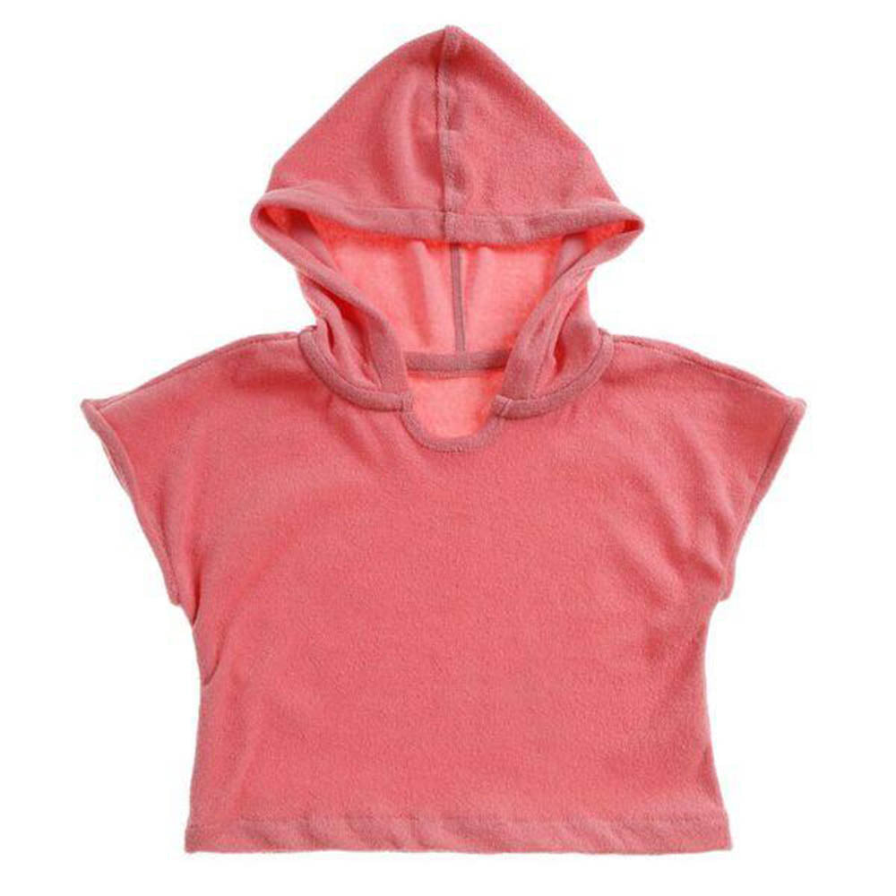 Terry Hooded Shirt - Coral