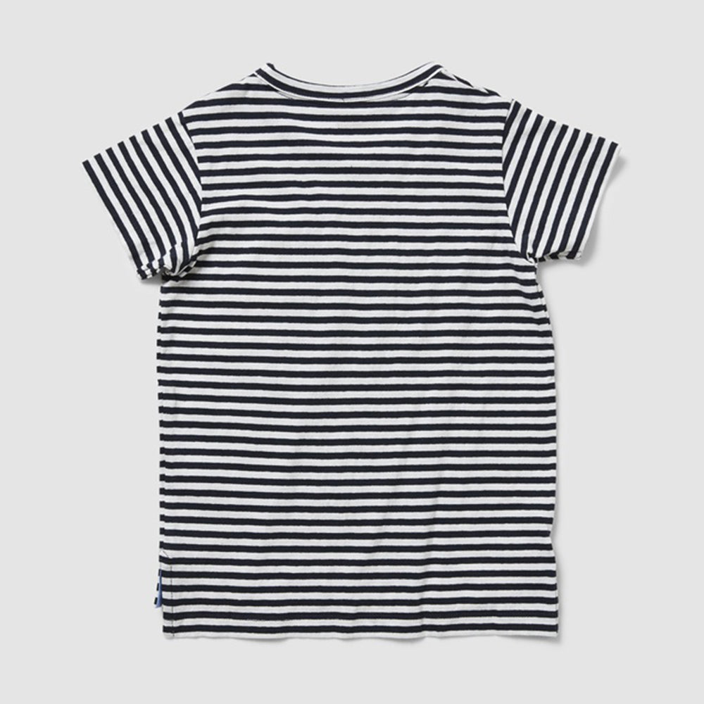Rookie Crestwood Striped Tee -  Navy