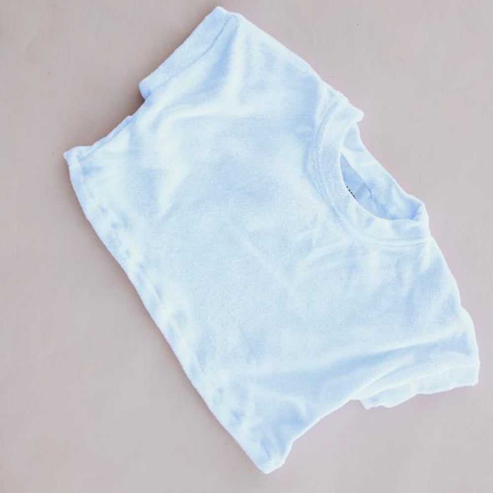 Terry Cropped Tee White
