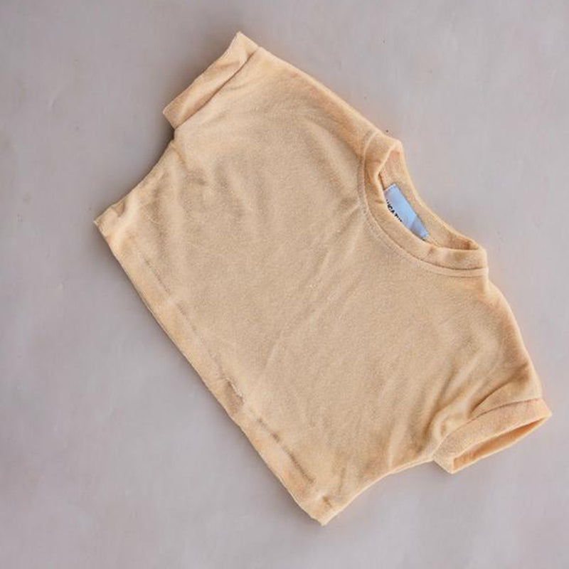 Terry Cropped Tee Sunshine