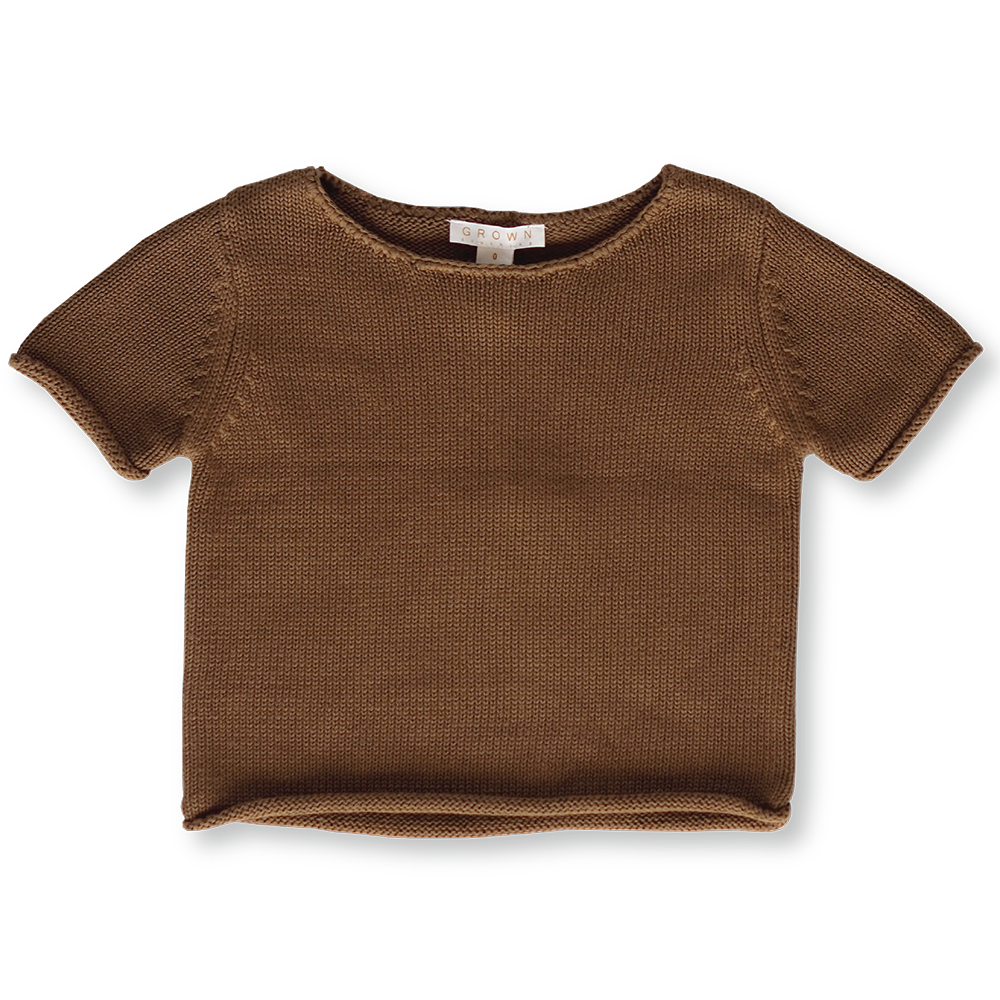 Knitted Tee - Earth