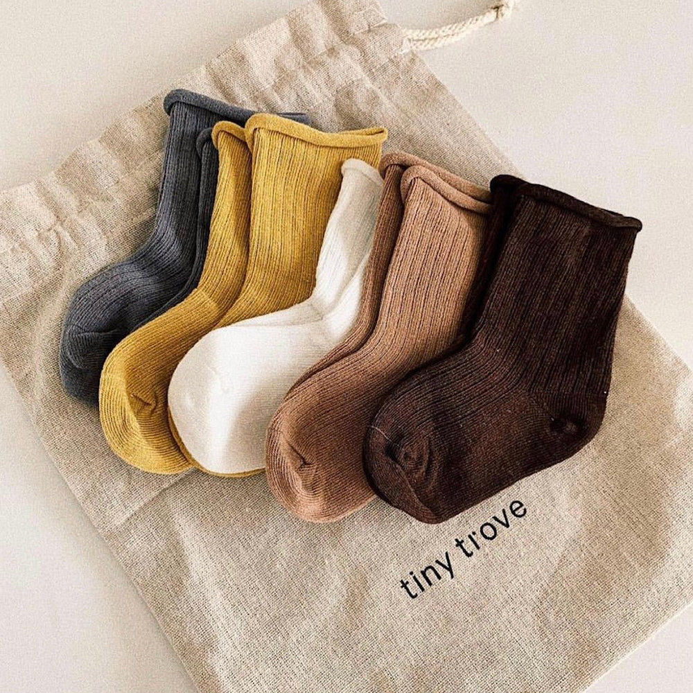 Ribbed Socks Earthy - Pack of 5