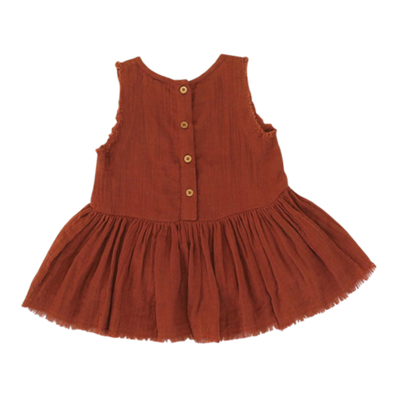 Eliza Sleeveless Smock -  Brandy