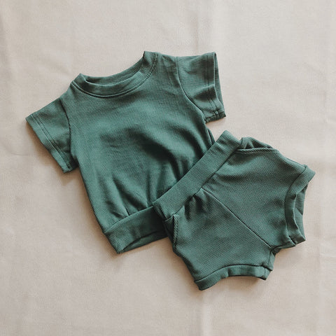River Mini Ribbed 2-Piece Set - Sea Foam