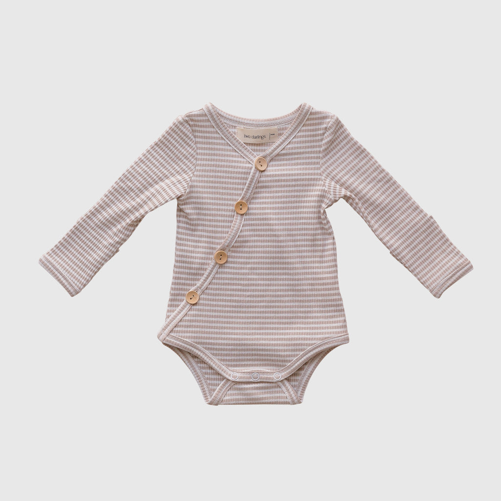 Fawn Stripe Long Sleeve Bodysuit