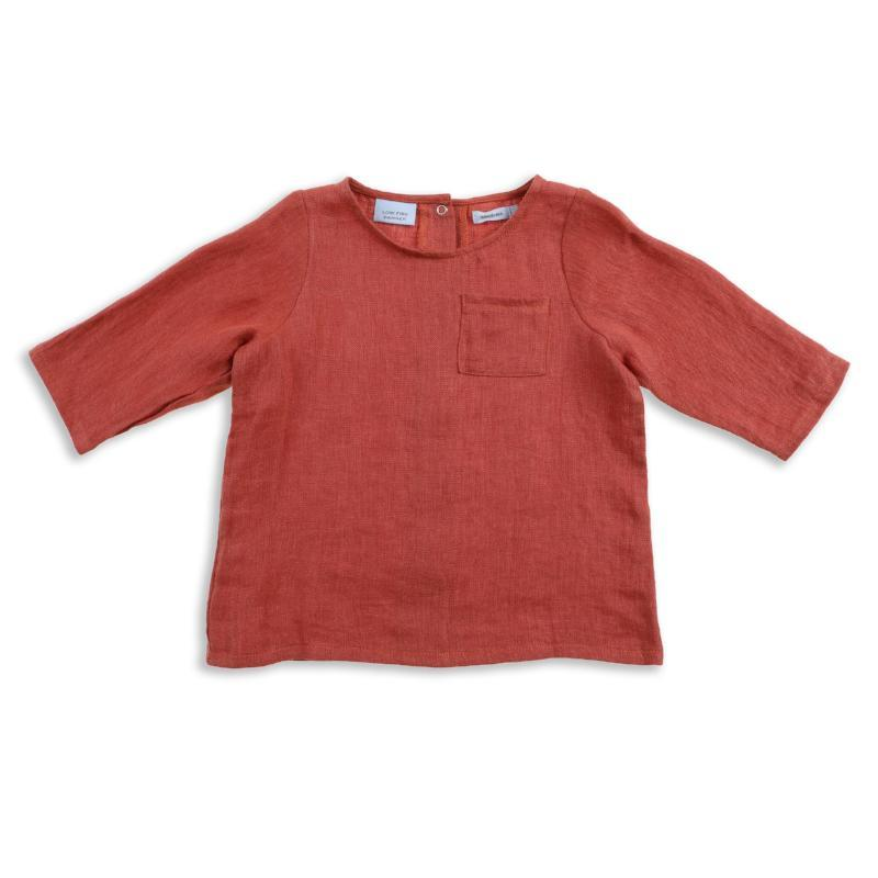 Frankie Linen Top - Clay