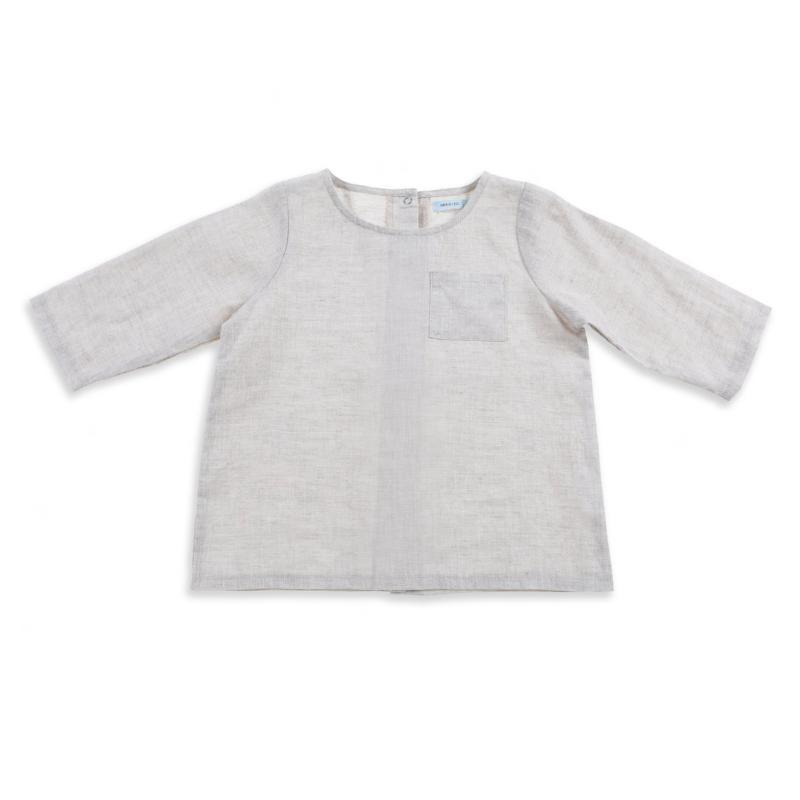 Frankie Linen Top - Natural