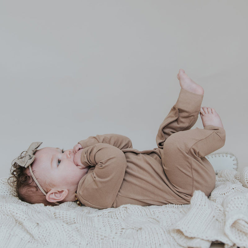 Full Body Romper - Hazelnut