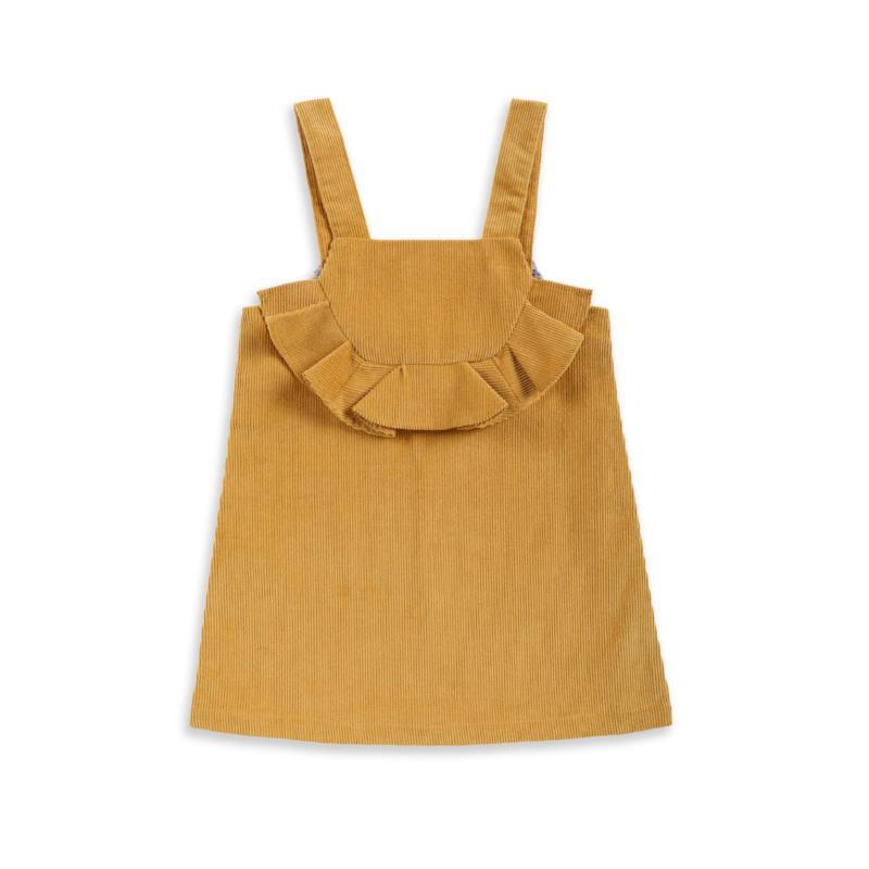 Harper Corduroy Dress - Mustard