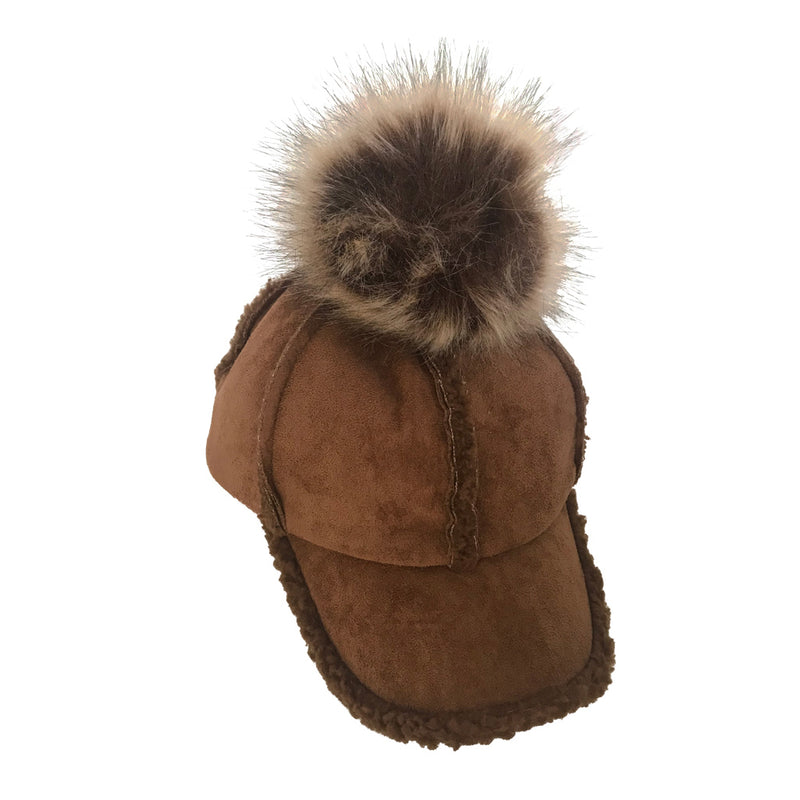Shearling Cap - Chocolate