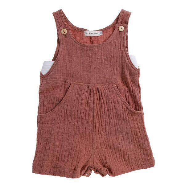 Juniper Shorteralls - Dusty Pink