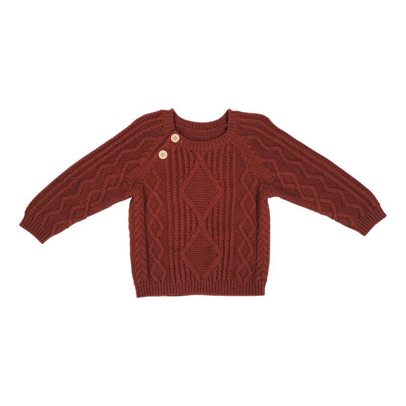 Cable Knit Pull Over - Ketchup