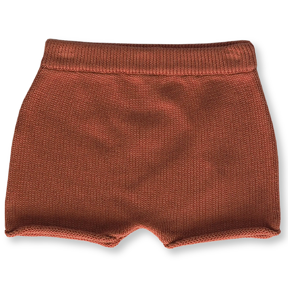 Knitted Shorts - Rust