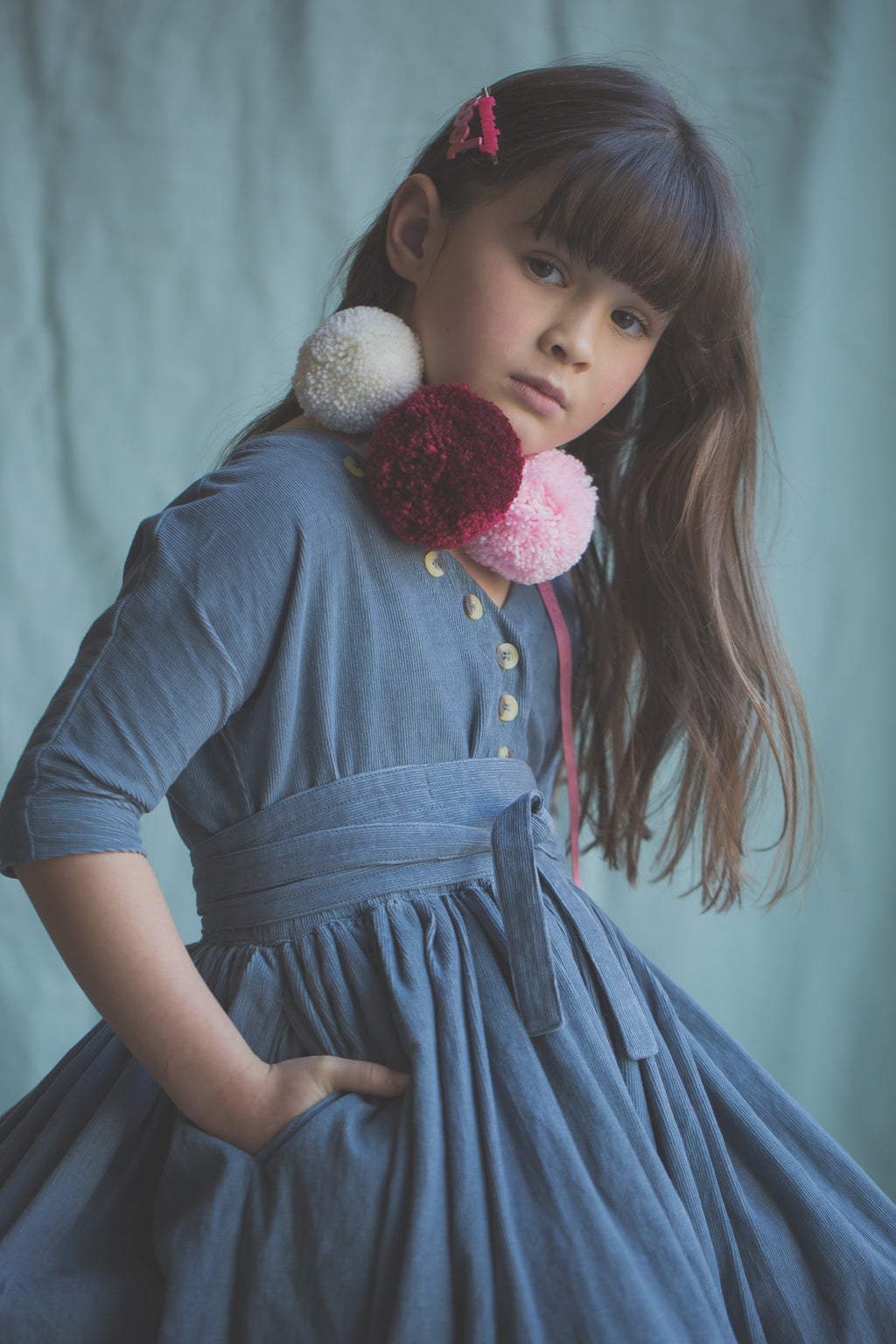 Layne Dress - Bluemoon Corduroy
