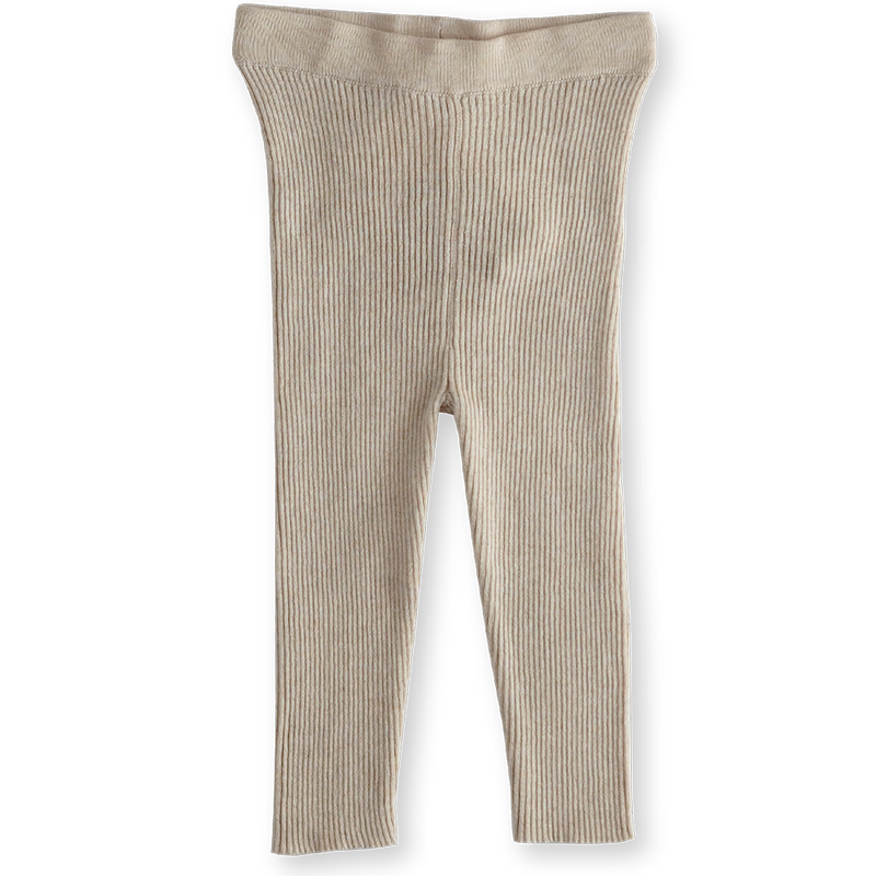 Ribbed Essential Leggings - Oatmeal
