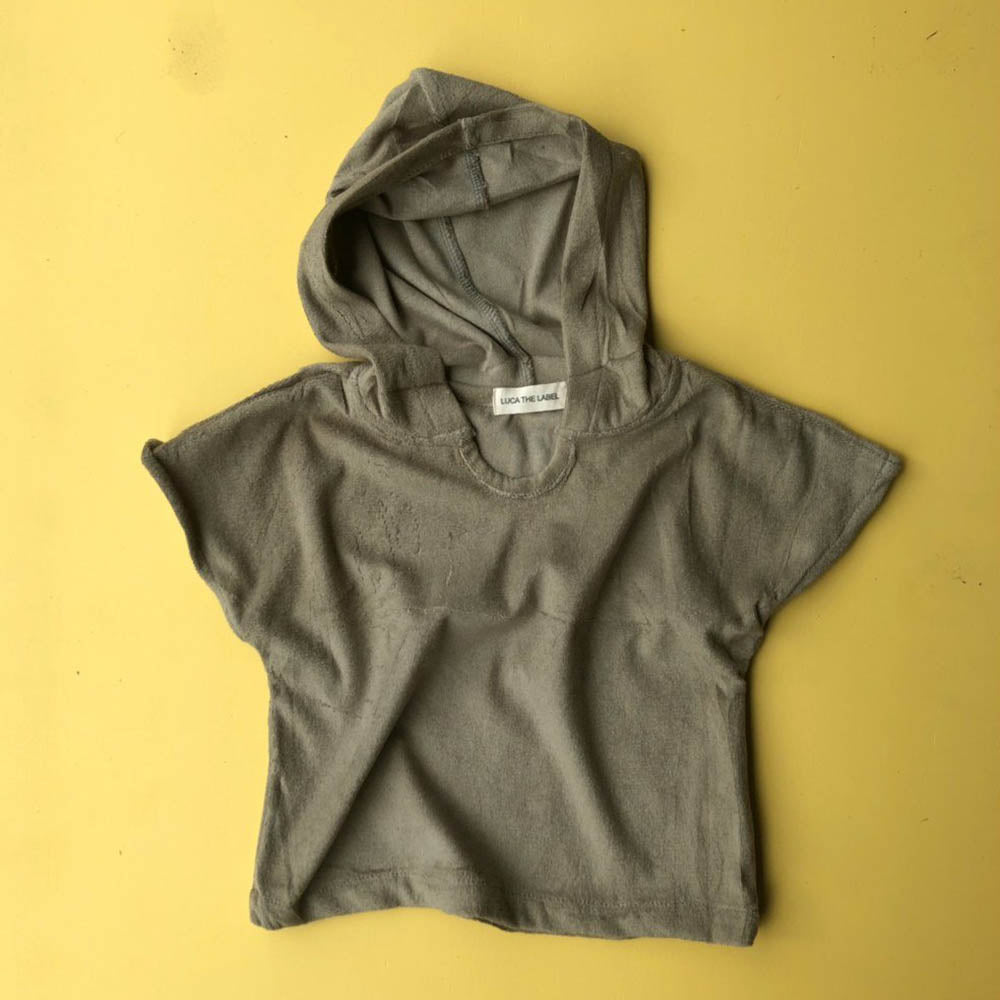 Terry Hooded Shirt - Olive