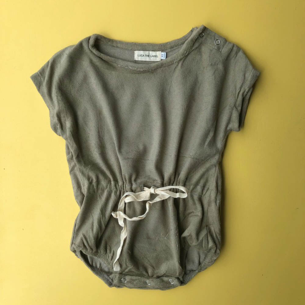 Terry Essential Playsuit - Olive