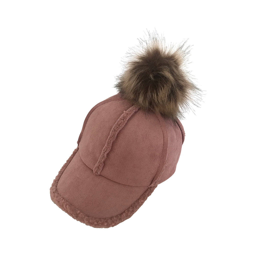 Shearling Cap - Dusty Pink