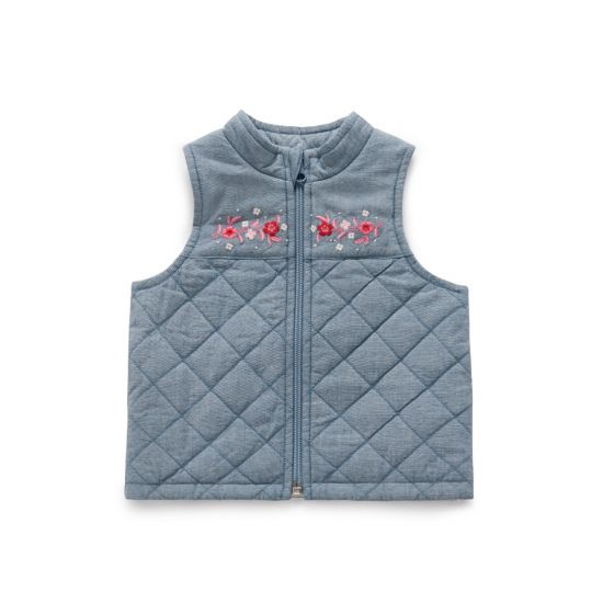 Plum Blossom Quilted Vest