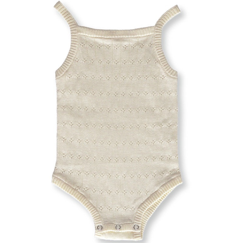 Pointelle Bodysuit - Milk