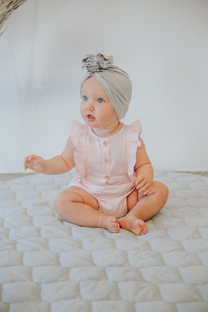 Rose Linen Fluttersuit