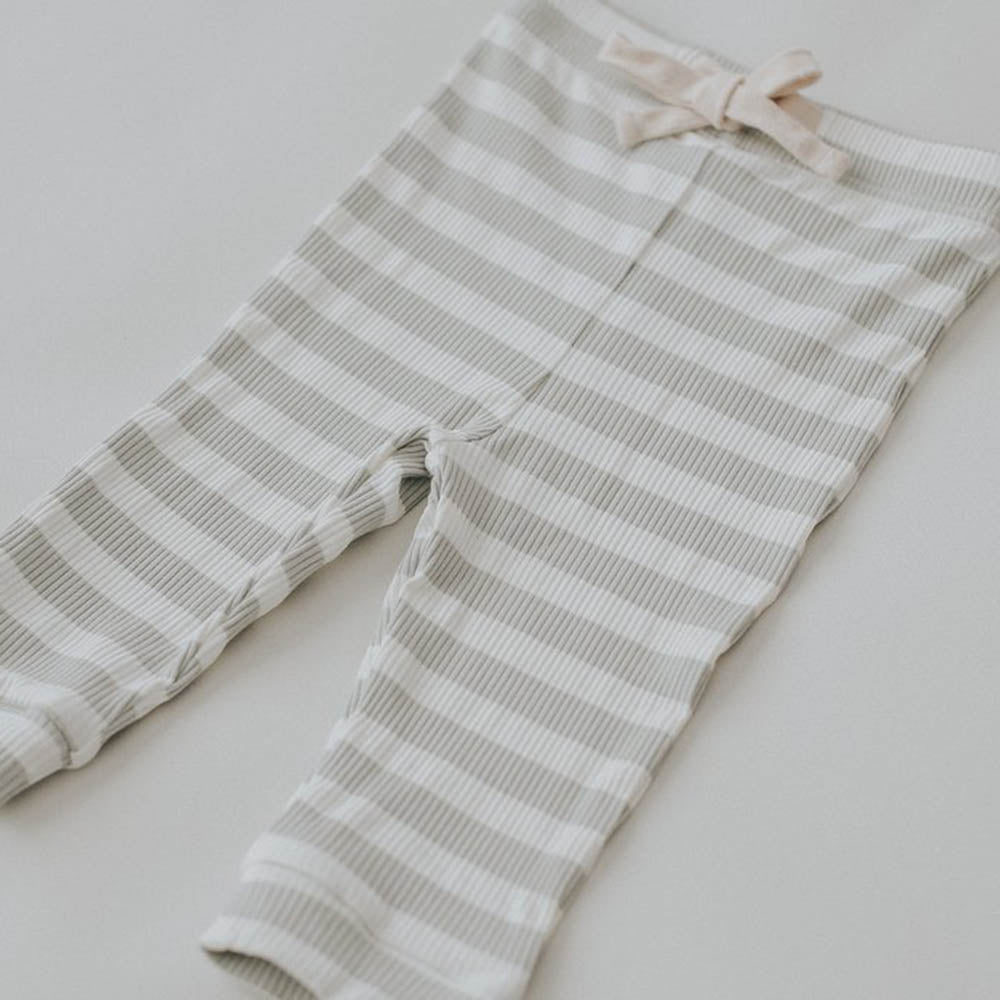Seamist Stripe Cotton Baby Leggings