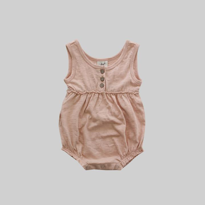 Bubble Romper - Shy Pink