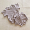 River Mini Ribbed 2-Piece Set - Soft Mauve