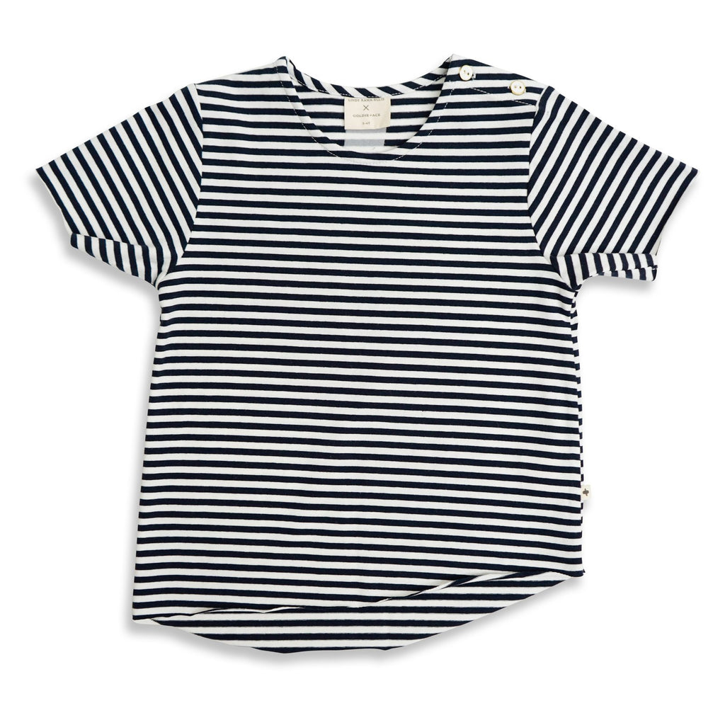Lindy Rama-Ellis Edgy Tee Navy Stripe