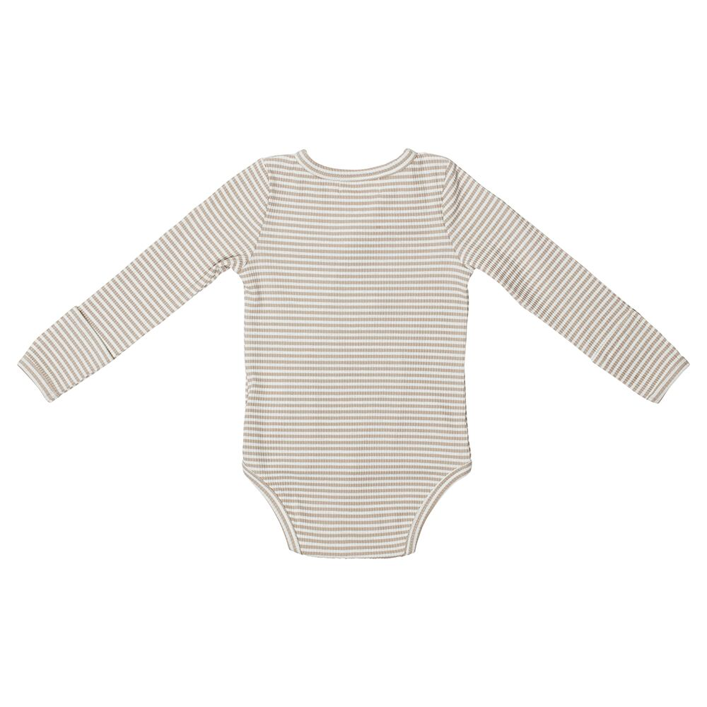 Fawn Striped Baby Romper