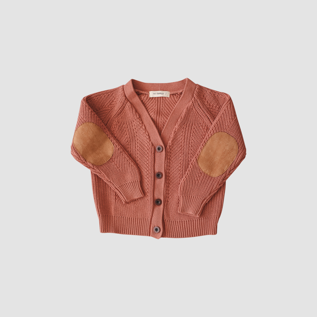 Terracotta Knit Cardigan