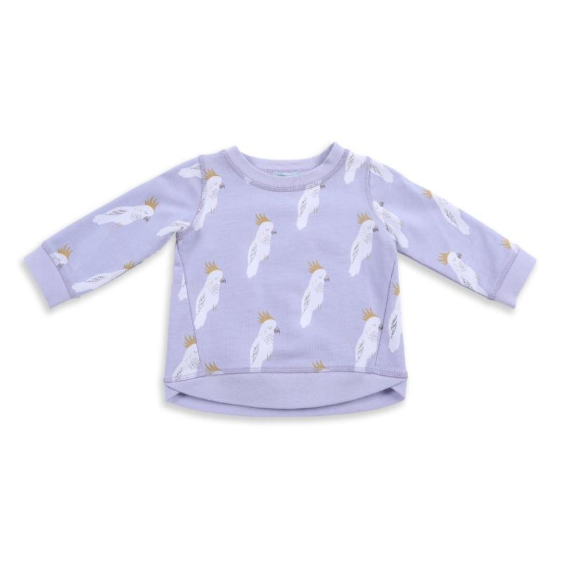 Cockatoo Party Print Terry Sweater