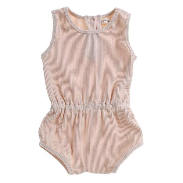 Ribbed Essential Playsuit Vanilla
