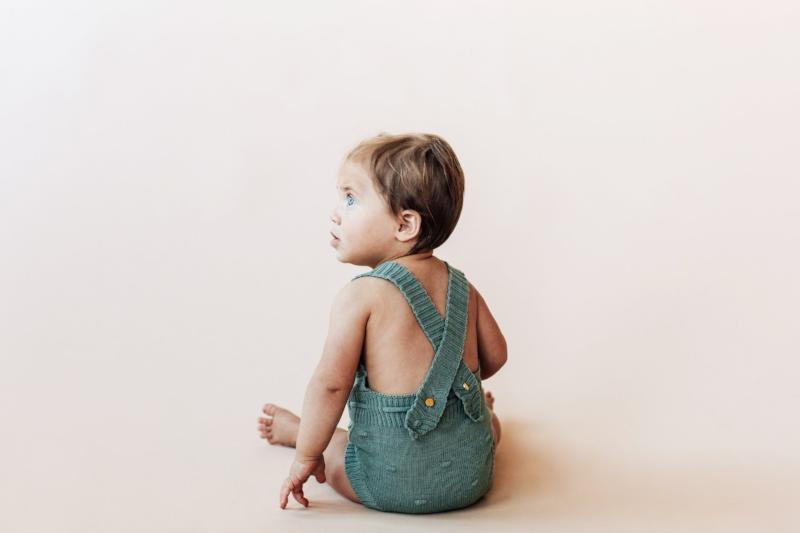 Willa Knit Romper - Eucalyptus