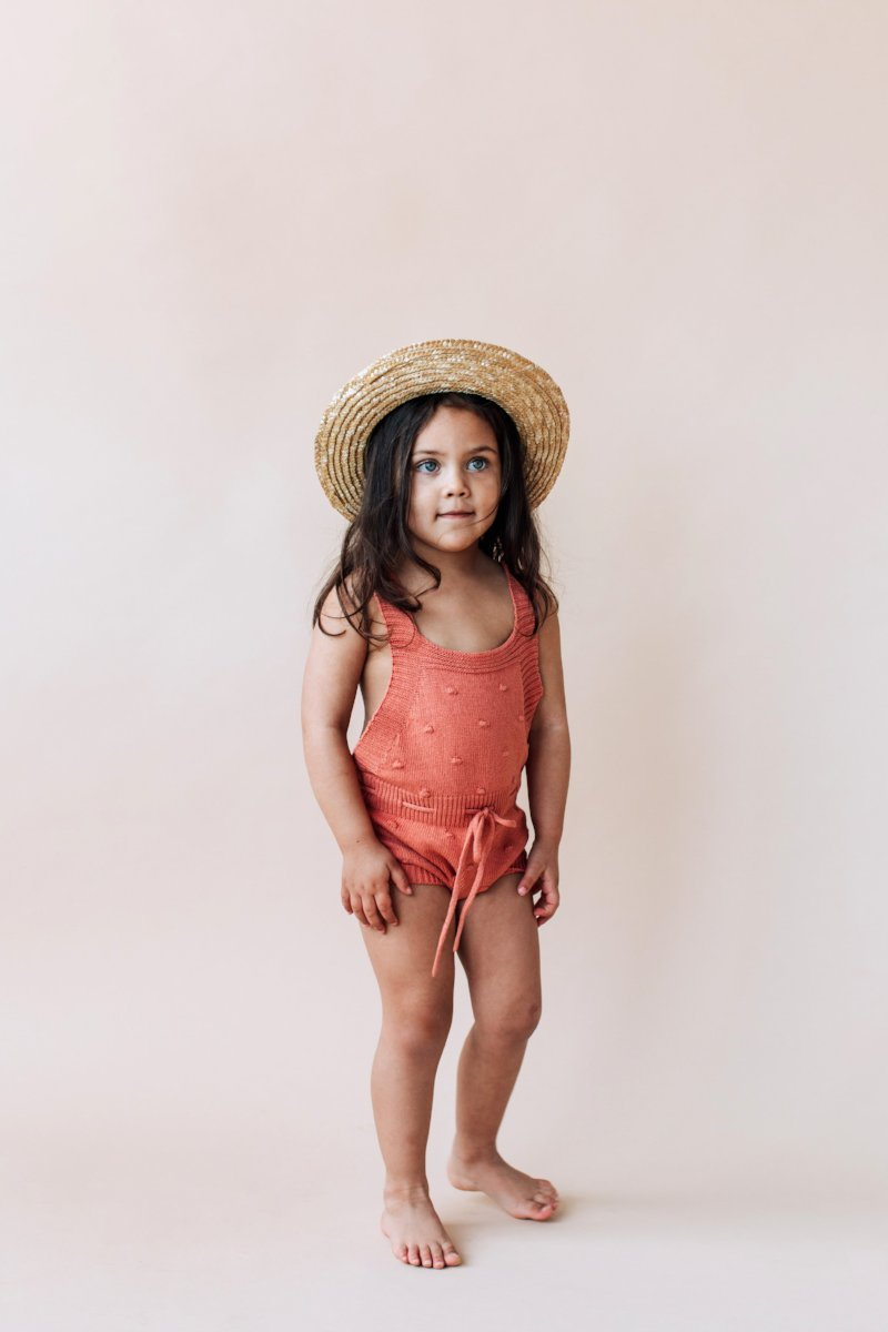 Willa Knit Romper - Sun Baked