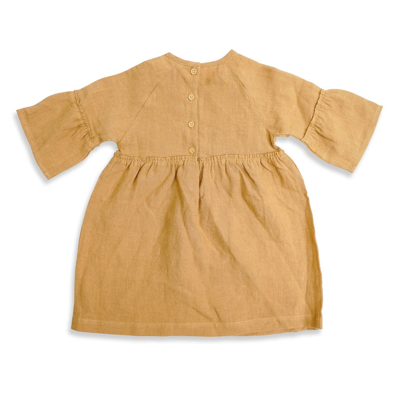Luella Linen Dress Gold