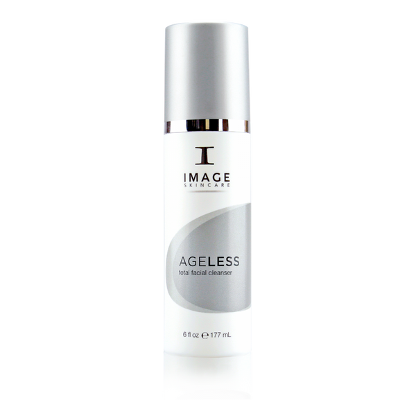 Ageless total facial cleanser by Image Skincare that can be used as a daily-use skin cleanser and jumpstarts the skin's exfoliation process.