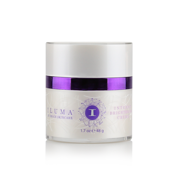 Iluma intense brightening crème contains an exclusive complex to illuminate and bring balance to uneven skin. Fades the appearance of age spots & hyperpigmentation.