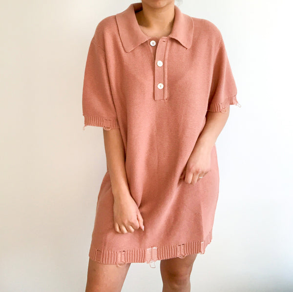 Peachy Knit Dress