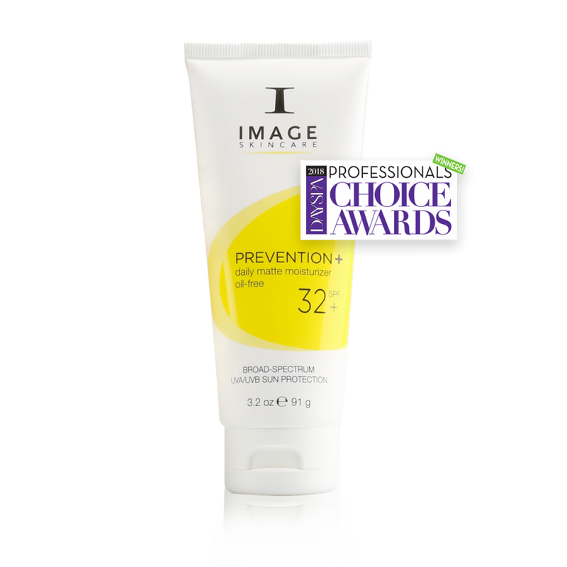 Image Skincare Prevention+ daily matte moisturizer SPF 32+ is an oil-free, broad-spectrum UVA/UVB sunscreen that delivers high sun protection in a mattifying, antioxidant-rich base perfect for oily and acne-prone skin types.