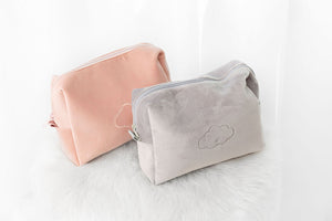 Velour Travel Case-Dusty Pink