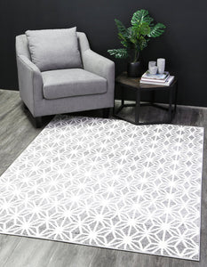 Madison Modern Web Grey Rug