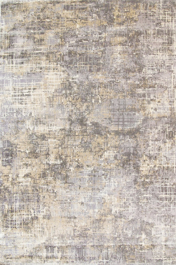 Alyssum Textured High Low Pile Abstract Gold Grey Beige Rug